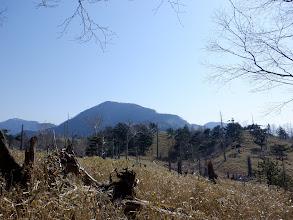 ここから笹原(奥が黒沢山)