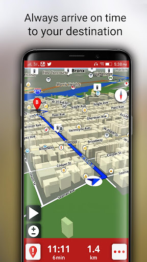 Free-GPS, Maps, Navigation, Directions and Traffic 1.9 screenshots 8