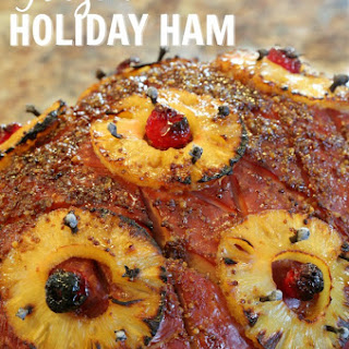 Glazed Holiday Ham.