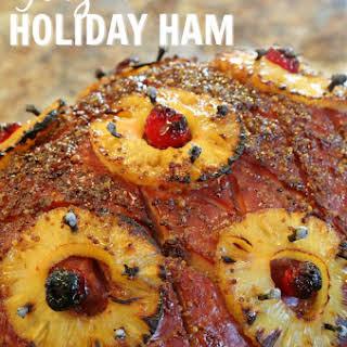 Glazed Holiday Ham.