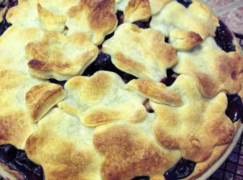 """Rhuberry Pie""""This is a delicious blend of two of my favorite summer..."""