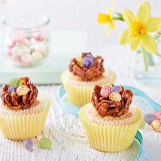 Paascupcakes Met Chocolade Vogelnestjes