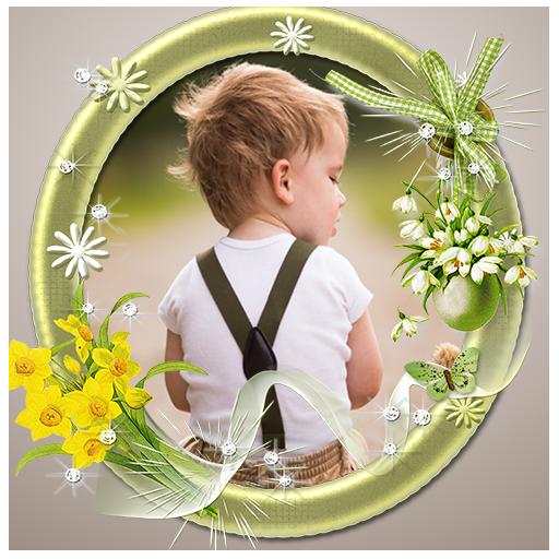 花フォトフレーム 攝影 App LOGO-APP試玩