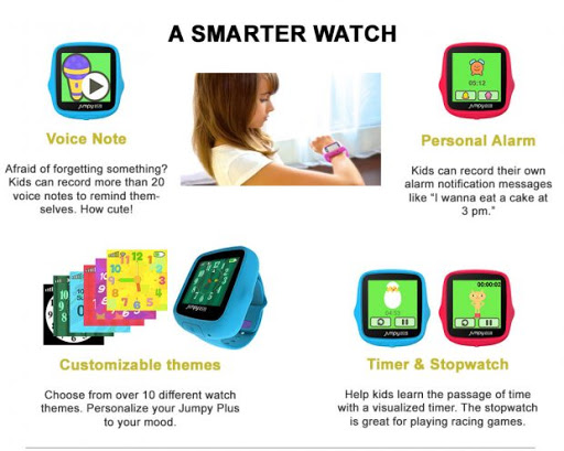 Some of the functions of the Jumpy Plus watch