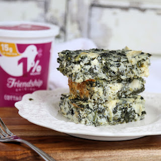 Low Carb Spanakopita Cottage Cheese and Egg Casserole.