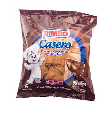 Ponqué BIMBO Casero   Vainilla y Chocolate x220g