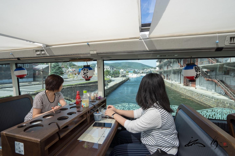小樽運河を眺めながら。。。