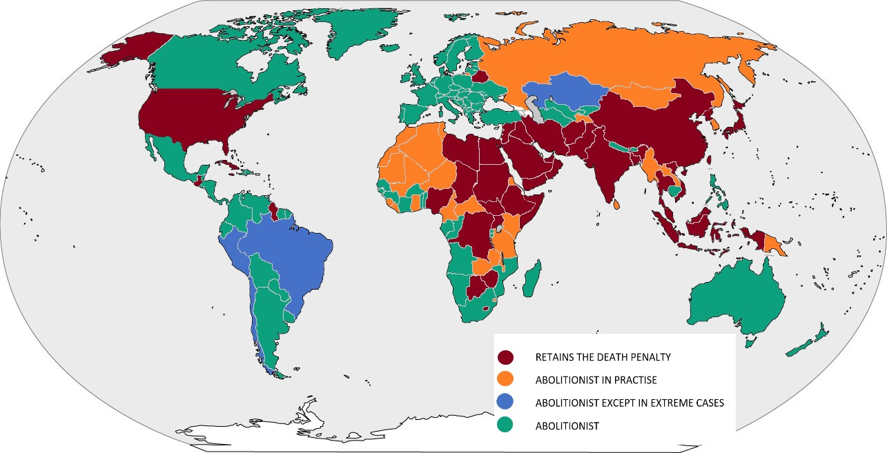 """The US – A Leader of the """"Free World?"""" An International ... Us States Penalty Map on indiana map, north carolina map, oklahoma map, ohio map, virginia map, louisiana map, oregon map, arizona map, delaware map, georgia map, michigan map, canadian province map, connecticut map, tennessee map, missouri map, europe map, california map, canada map, arkansas map, texas map,"""