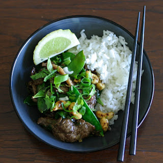 Beef and Snow Pea Stir Fry with Oyster Sauce