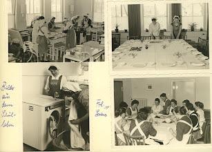Photo: Küche und Hausarbeitsraum in der Schule 1960