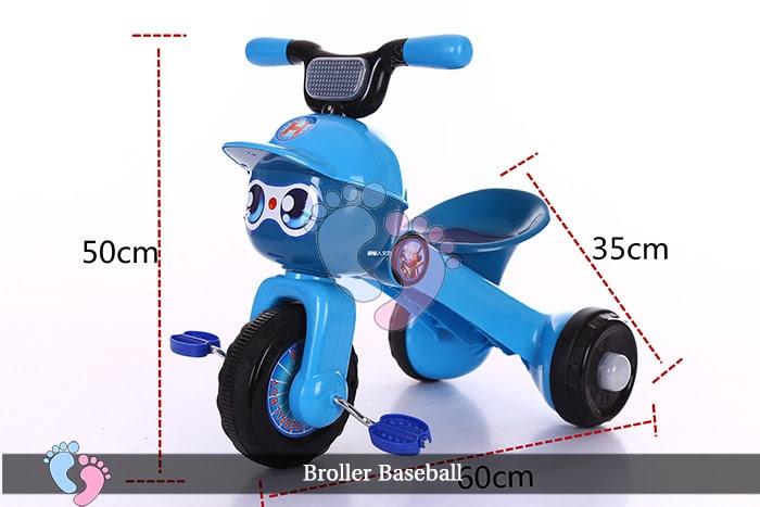 Xe đạp ba bánh trẻ em Broller XD3 Baseball 9