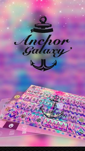 Anchor Galaxy Keyboard Theme Android App Screenshot