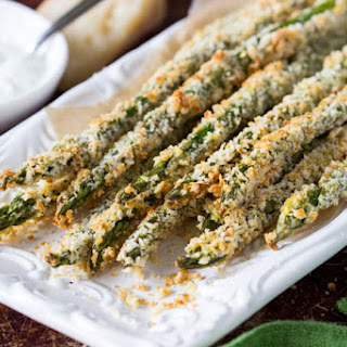 Asparagus Fries + Creamy Parmesan Dipping Sauce Recipe