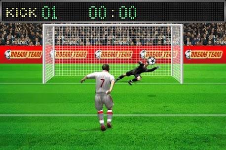 Football penalty. Shots on goal. 5