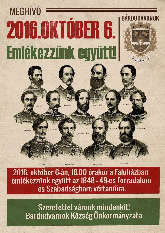 Október 6-i megemlékezés plakát