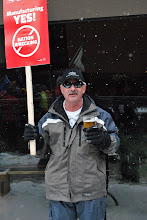 Photo: So said this man, a locked out worker of Steelworkers Local 1005.