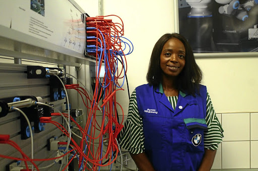 Nthabiseng Byrnes is the first female assembly production manager at BMW's Rosslyn plant in Pretoria. / KABELO MOKOENA