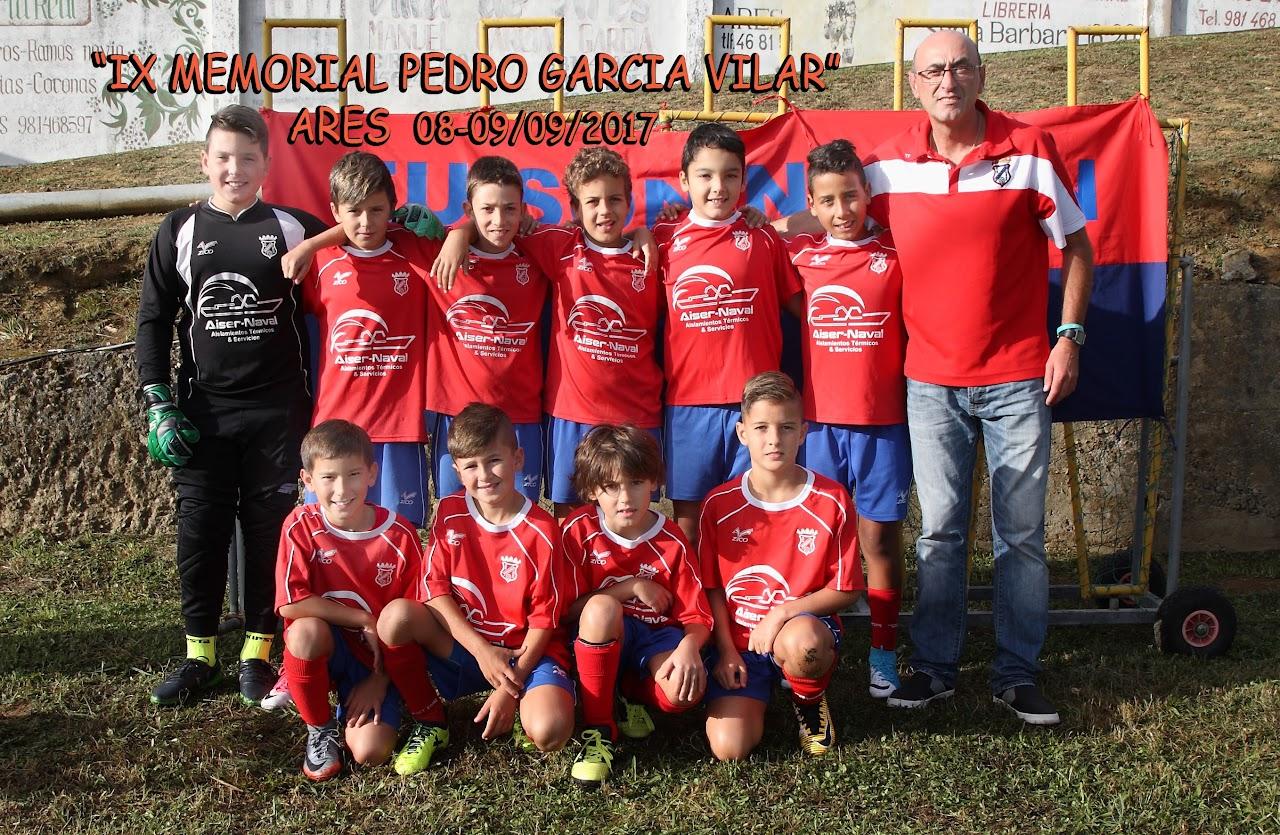 ADR NUmancia de Ares. IX Memorial Pedro García Vilar 2017. Fútbol 8. Prados Vellos. 8 y 9 de Septiembre de 2017.