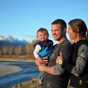 Happy Mountain Family by Robyn Vincent - People Family
