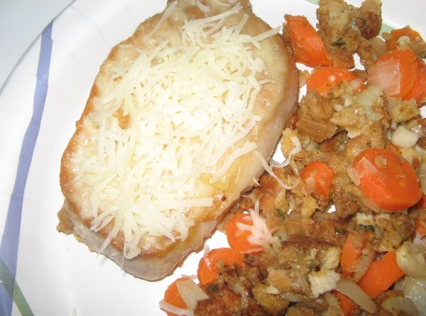 Skillet Pork Chops With Carrot Stuffing Recipe