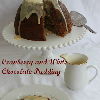 Cranberry and White Chocolate Pudding