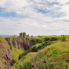 Castle in the sky... by My 1st Impressions - Landscapes Travel ( scotland, mountains, cliffs, green, castle, highlands )