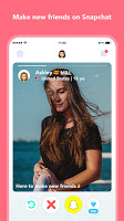 screenshot of Hoop - New friends on Snapchat