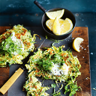 Zucchini and Brussels Sprouts Fritters Recipe