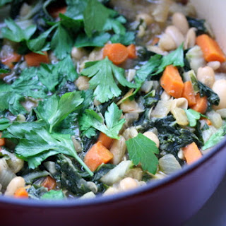 Vegetarian White Bean and Chard Stew.