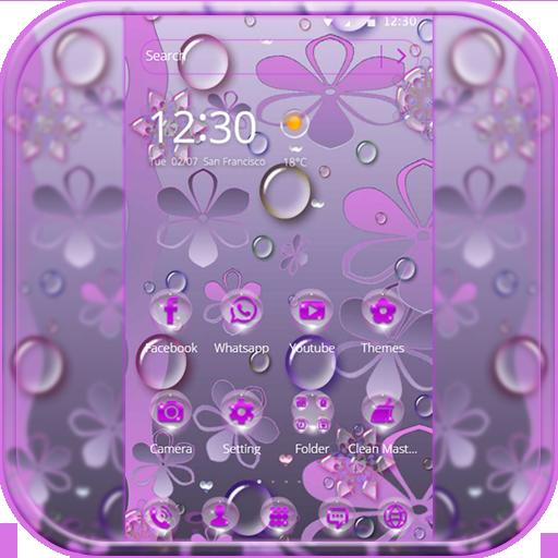 Purple Waterdrop Theme