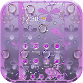 Purple Waterdrop Theme