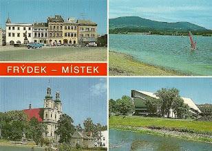 Photo: Frýdek-Místek (polsky Frydek-Mistek, německy Friede(c)k-Mistek, za Protektorátu německy Friede(c)k-Freiberg) je okresní město v Moravskoslezském kraji na obou březích řeky Ostravice, 17 km jižně od Ostravy. V roce 2011 zde žilo 58 tisíc obyvatel. Od 1. července 2006 je statutárním městem. Vzniklo 1. ledna 1943 spojením slezského města Frýdku (německy Friedek), moravského Místku (německy Mistek, též Freiberg) a tří dalších obcí, z nichž v současnosti patří k městu pouze Lískovec. Některé úseky řeky Ostravice zde tvoří historickou zemskou hranici Moravy a Slezska a řeka také tvoří přirozenou hranici mezi Frýdkem a Místkem. Zdroj: Wikipedie, Otevřená encyklopedie
