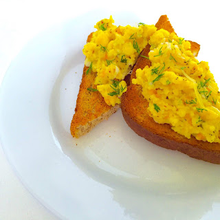 Scrambled Eggs with Smoked Salmon.