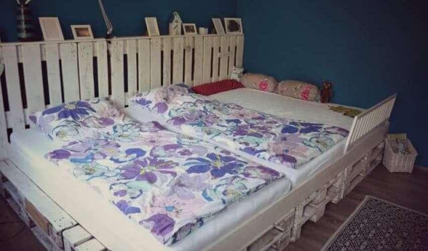 Детская кровать из поддонов своими руками