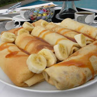 Crepes with Custard and Caramel.