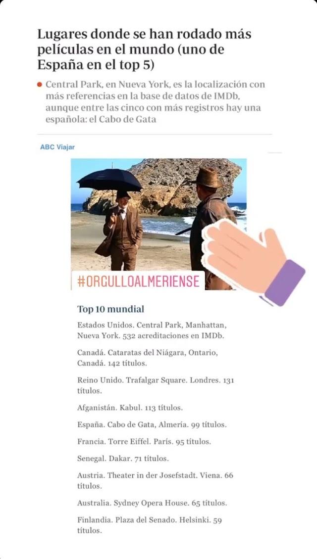 El presidente de la Diputación comparte la noticia en su historia de Instagram
