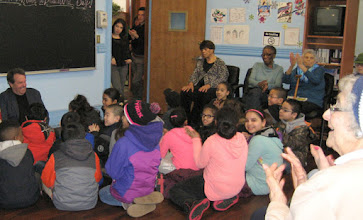 Photo: Third graders from PS 124 visited our members and participated Poet-in-Residence Gary Glazner's Poetry Session.
