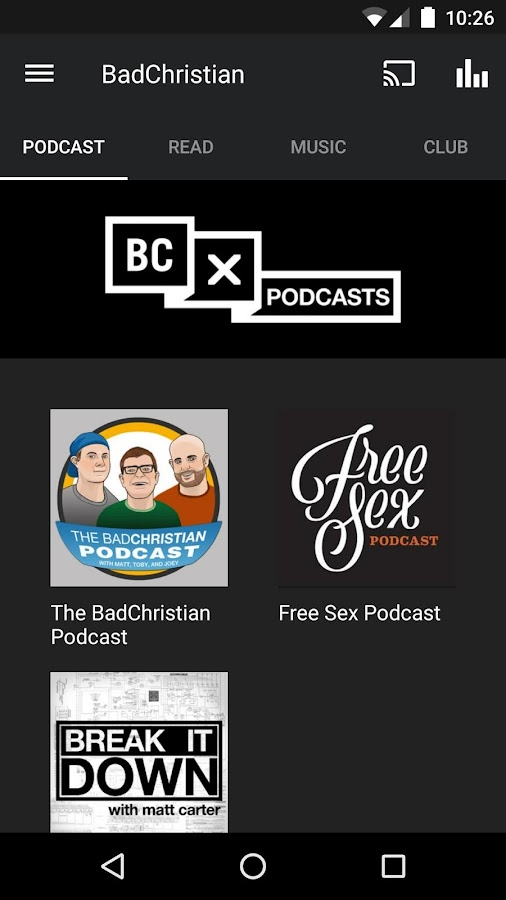 The BadChristian App- screenshot