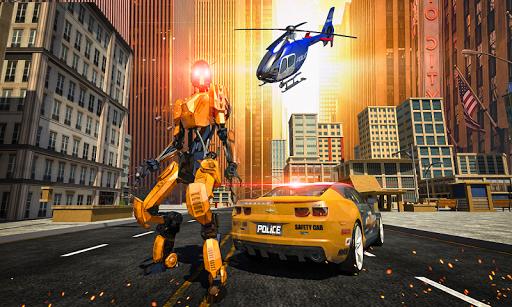 Police War Robot Superhero: Flying robot games ss1