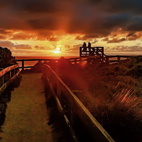 Sunset at the Colonnades by Gary Parnell - Buildings & Architecture Other Exteriors ( garyparnellphotography, victoria, places, the colonnades, ocean, #garyparnellphotography, beach, sunset, australia, phillip island, #phillipisland, cape woolamai )