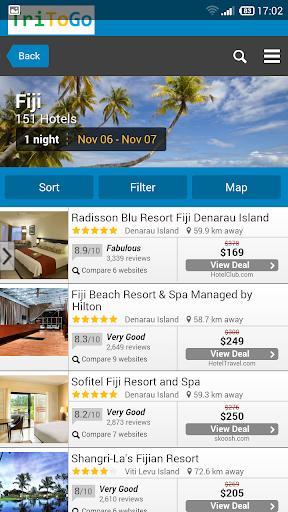 Hotels price Fiji tritogo.com