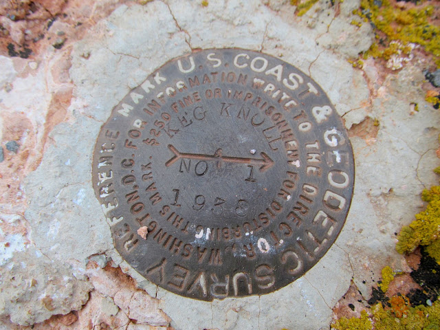 Keg Knoll reference marker #1
