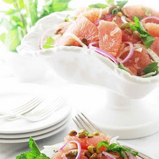 Grapefruit, Fennel and Mint Salad with Pistachios
