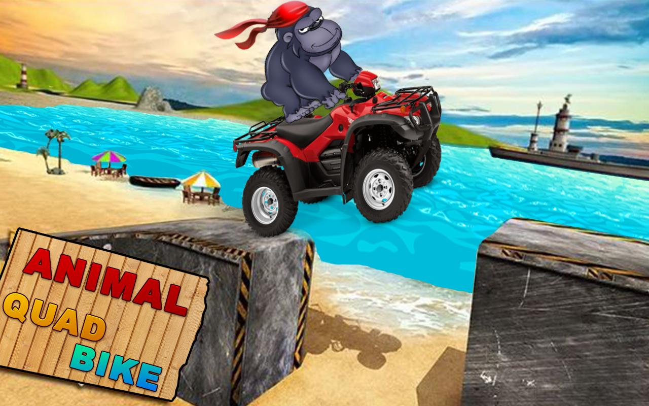 Gorilla Simulator 3d Beach Quad Bike Stunt Rider Android Apps On