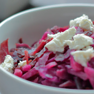 Braised Red Cabbage with Goat Cheese Recipe
