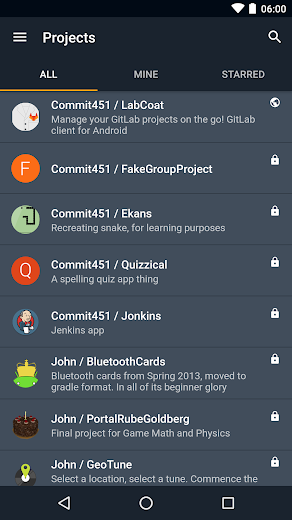 Screenshot 0 for GitLab's Android app'