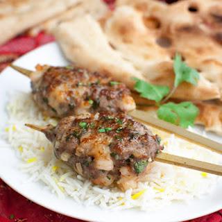 Lamb and Shrimp Kebabs