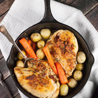 Cast Iron Skillet Roasted Chicken Breasts with Carrots & Potatoes Recipe