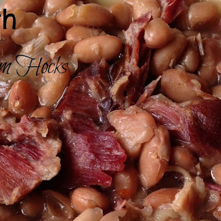 Pinto Beans with Smoked Ham Hocks {Slow Cooker}.