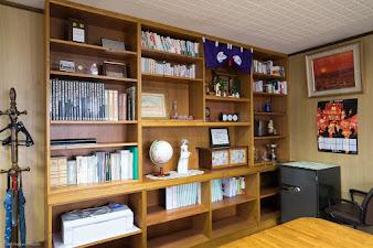 社長室の書棚